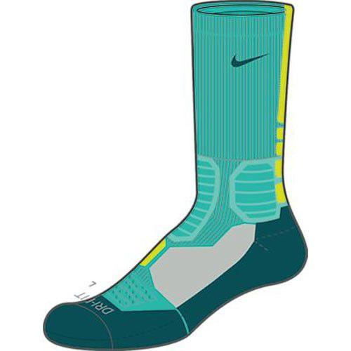 Nike Hyper Elite Crew Socks Lt Retro Volt Teal