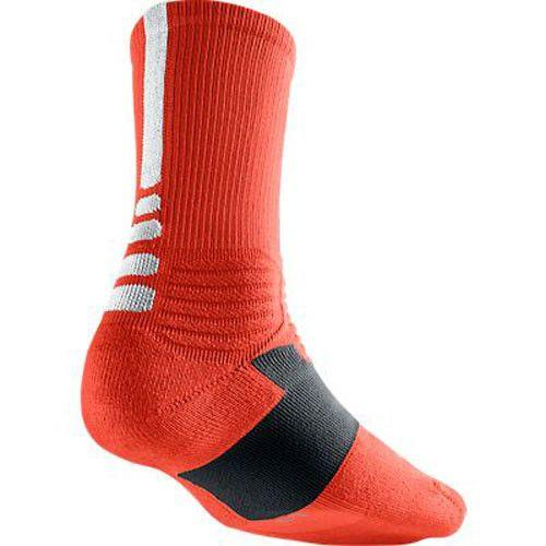 Nike Hyper Elite Crew Socks Team Orange White