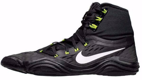 nike wrestling shoes hypersweep black white