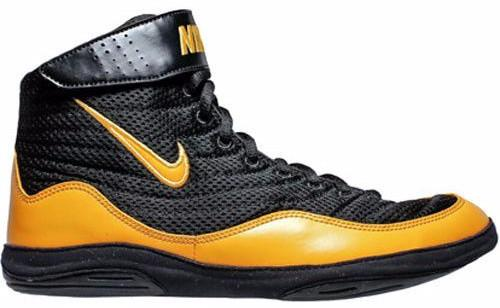 Nike Inflict 3 Black University Gold Wrestling Shoes