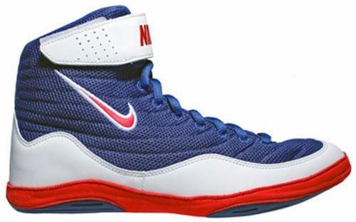 Nike Inflict 3 Deep Royal University Red White Wrestling Shoes
