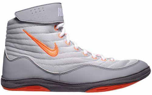 Nike Inflict 3 Pure Plat Total Orange Stealth Dark Grey Wrestling Shoes