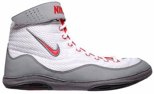 Nike Inflict 3 White Univ Red Cool Grey Black Wrestling Shoes