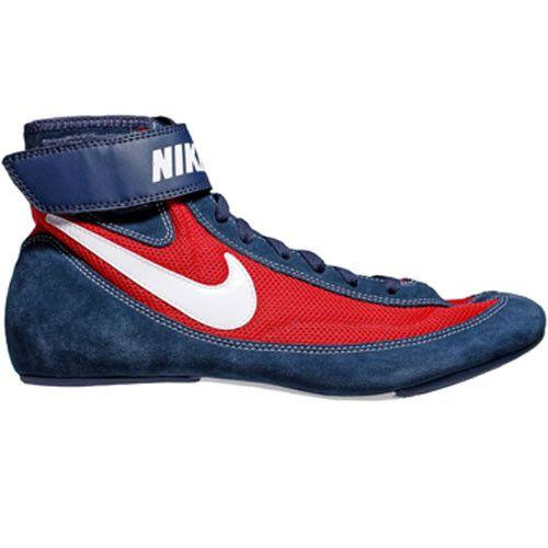 Nike Speedsweep VII Youth Mid Navy White Univ Red Wrestling Shoes