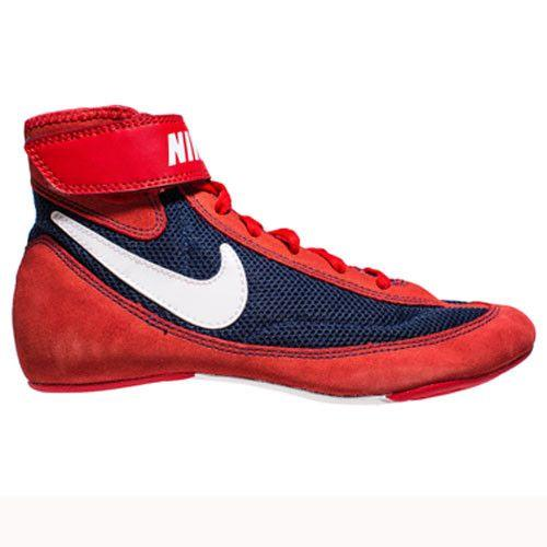 Nike Speedsweep VII Youth Univ Red White Mid Navy Wrestling Shoes