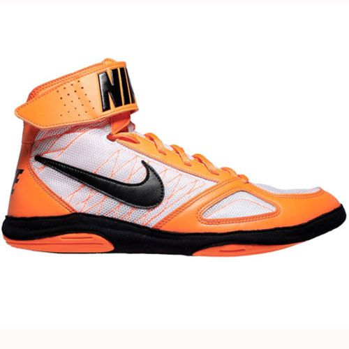 Nike Takedown 4 Total Orange Black White Wrestling Shoes