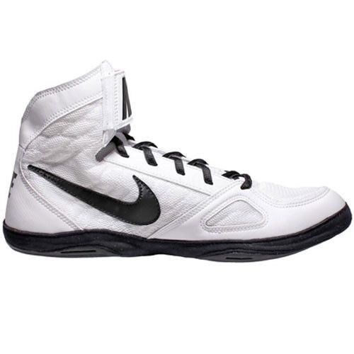 Nike Takedown 4 White White Black Wrestling Shoes