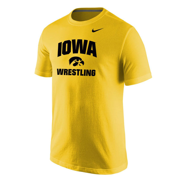 Nike University of Iowa Wrestling Core Tee - Gold