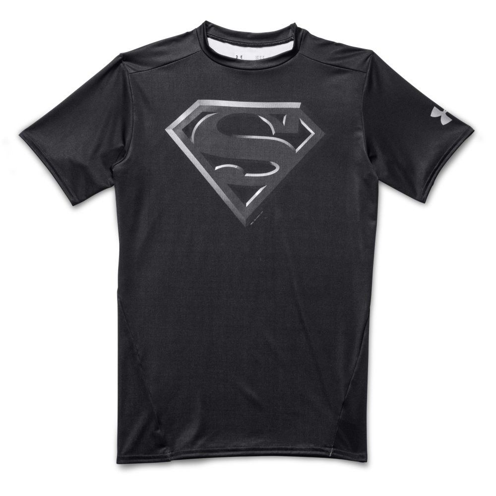 Under Armour Alter Ego Short Sleeve TShirt Superman Black Silver