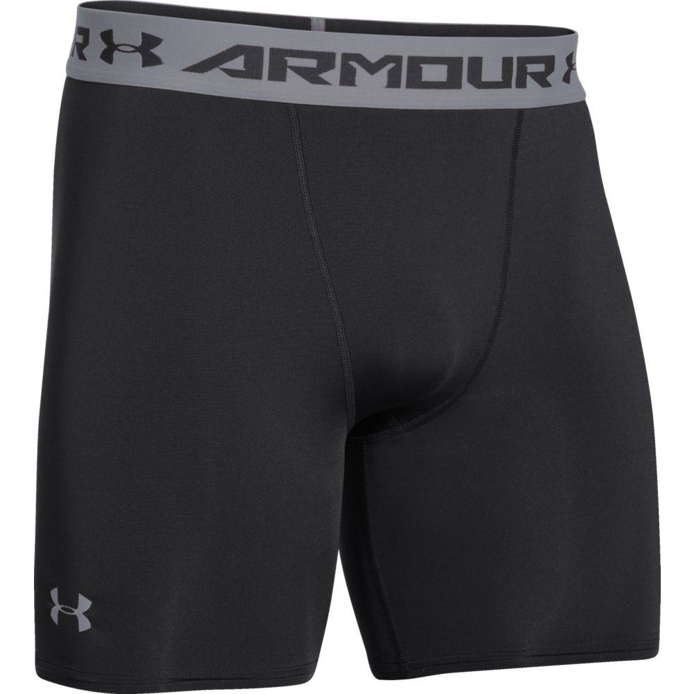 Under Amour Heat Gear Mid Compression Shorts Black Silver