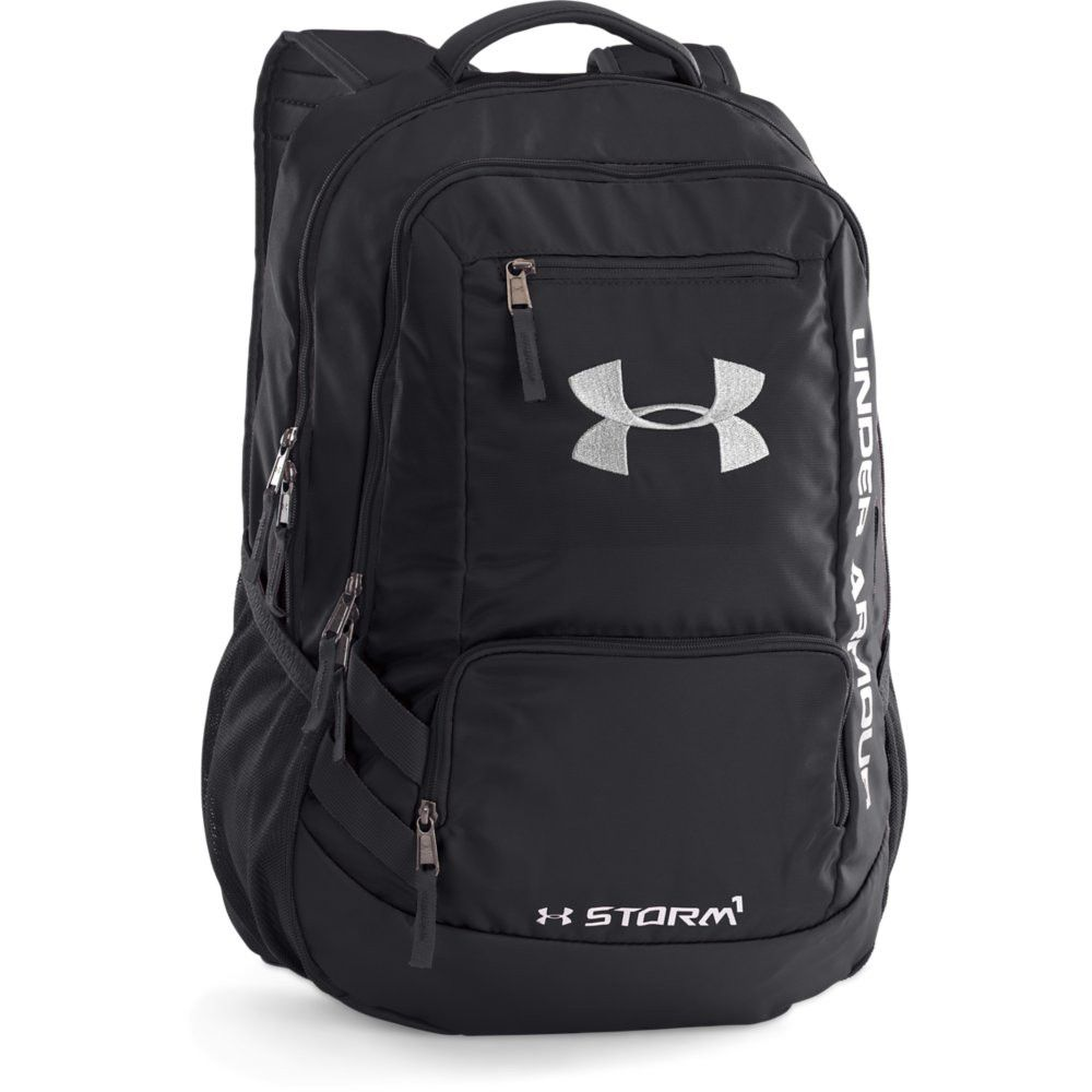Under Armour Hustle II Backpack Black Black Silver