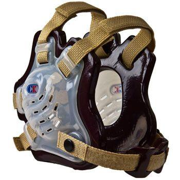 Cliff Keen Tornado Wrestling Headgear Translucent Maroon Vegas Gold