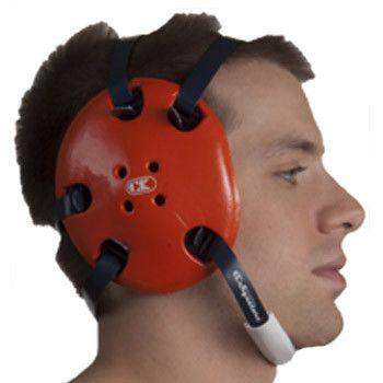 Cliff Keen Signature Headgear Deep Ear Cup Orange Navy Blue