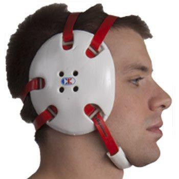 Cliff Keen Signature Headgear White Red