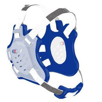 Cliff Keen Tornado Wrestling Headgear Translucent Royal Blue White