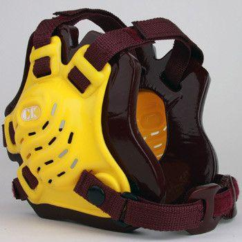 Cliff Keen Tornado Wrestling Headgear Light Gold Maroon Maroon