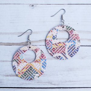 Love Letters Circle Leather Earrings