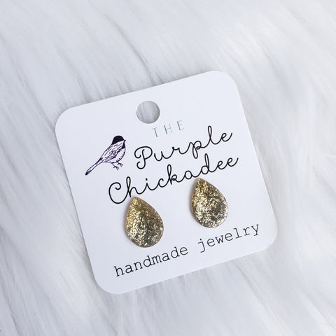 Champagne Ombre Teardrop Stud Earrings