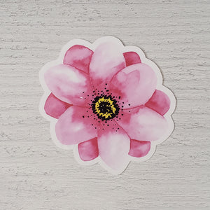 Light Purple Watercolor Flower Sticker