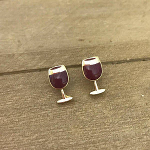 Red Wine Stud Earrings