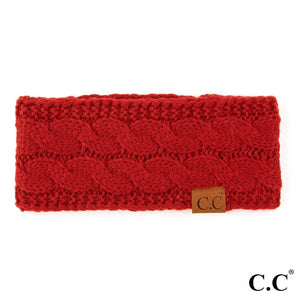 CC Knitted Headband - Red