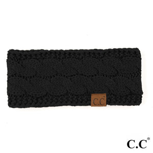 CC Knitted Headband - Black