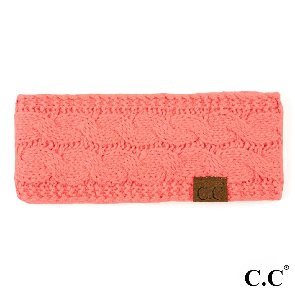 CC Knitted Headband - Coral