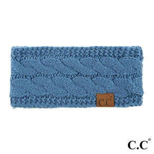 CC Knitted Headband - Denim