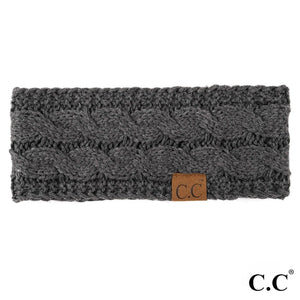CC Knitted Headband - Dark Grey