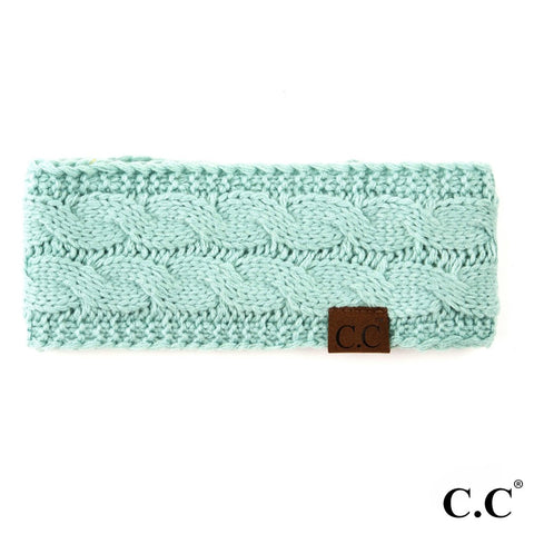 CC Knitted Headband - Mint