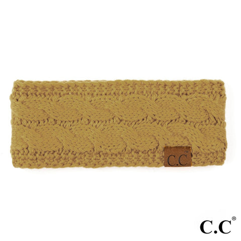 CC Knitted Headband - Mustard
