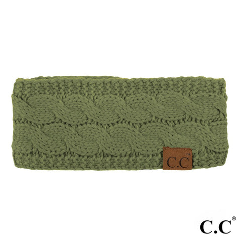 CC Knitted Headband - Olive