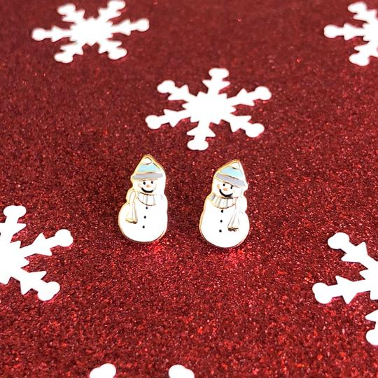 Snowman Enamel Earrings