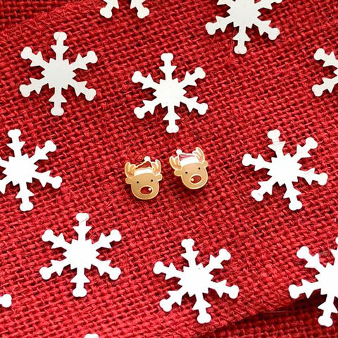 Reindeer Enamel Earrings