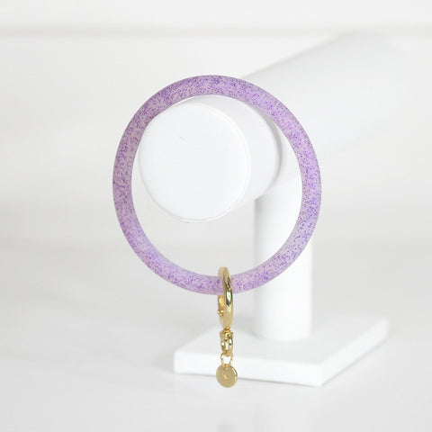 Purple Glitter Bangle Keyring