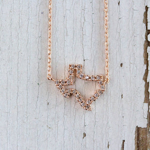 Rhinestone Texas Cut Out Necklace