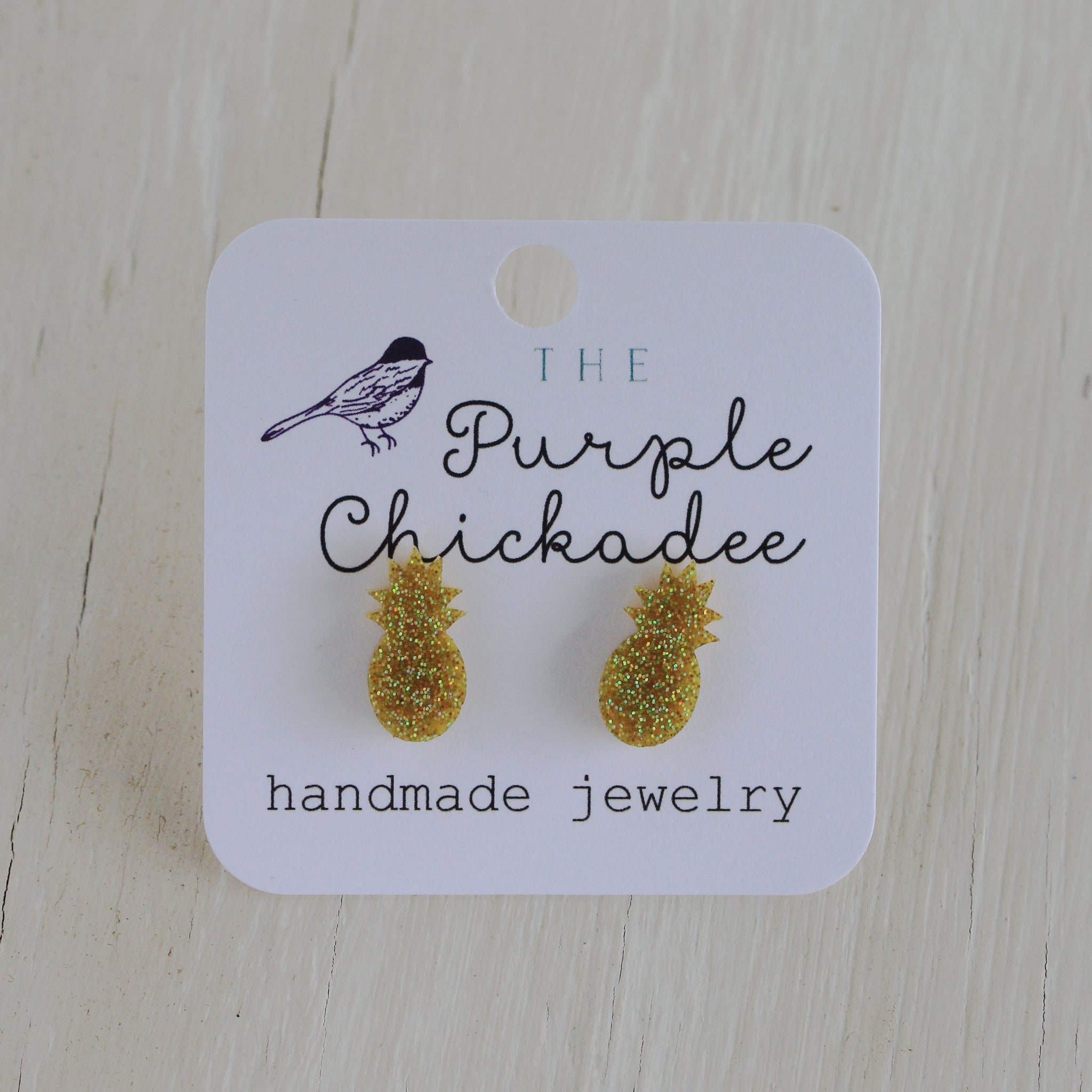 Pineapple Stud Earrings - Titanium Hypoallergenic