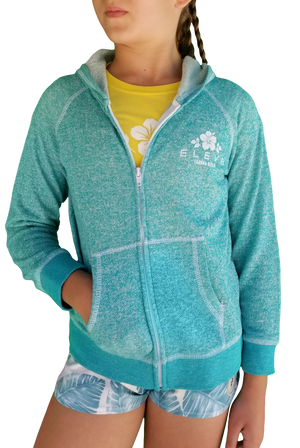 Hibiscus Zip Up - Lil Kid's
