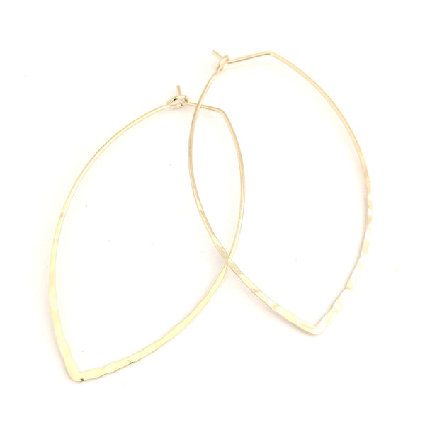 Oval Marquis Gold Hoops