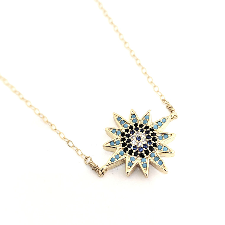 Megara Starburst Crystal Necklace