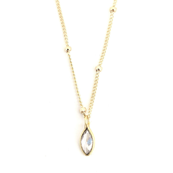 Diamond Heights Crystal Drop Necklace