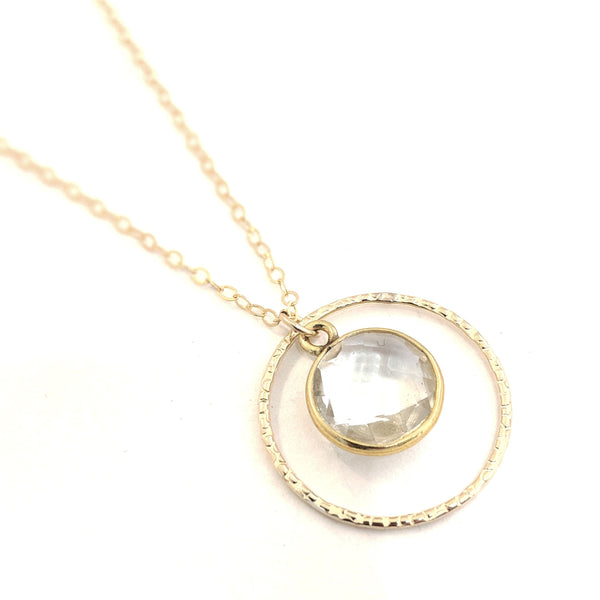 Oslo Gemstone Drop Necklace