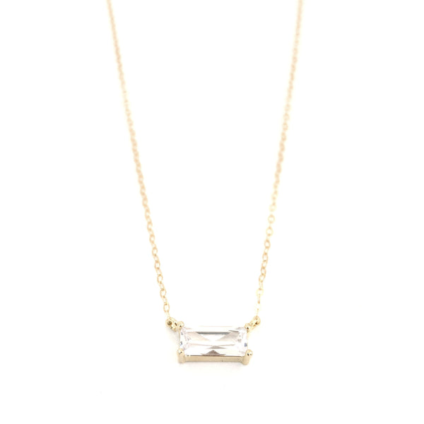 Tower Crystal Necklace