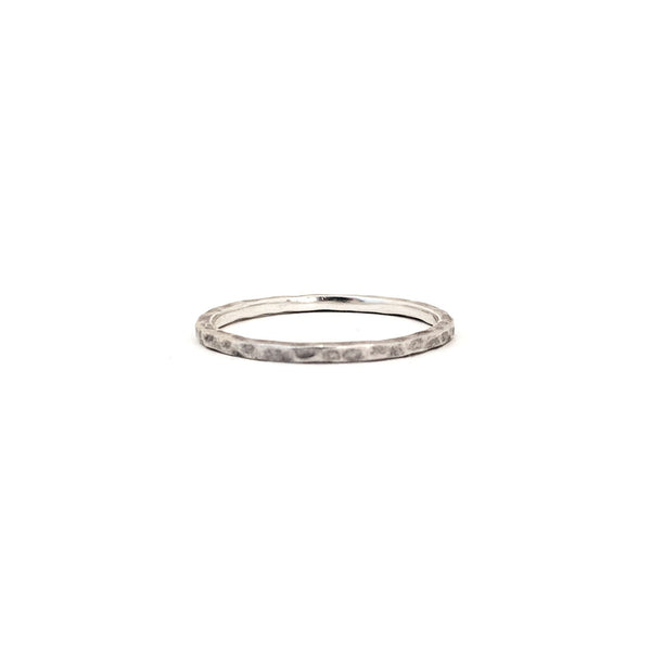 Rose Hammered Ring