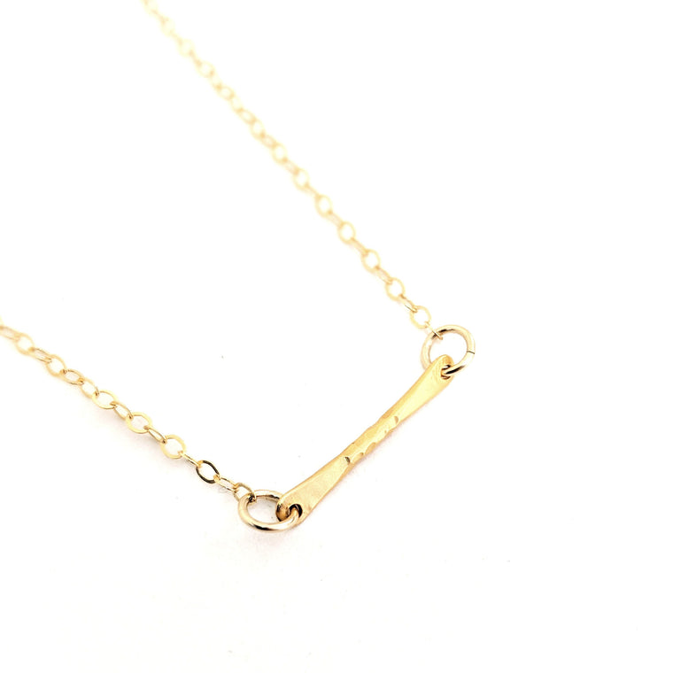 Sky Hammered Bar Necklace