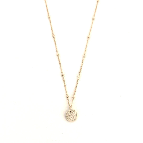 Textured Disk Necklace