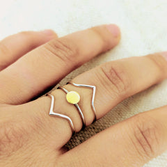 Chevron Ring Collection