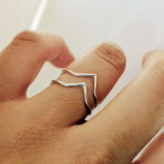 Double Chevron Ring Collection