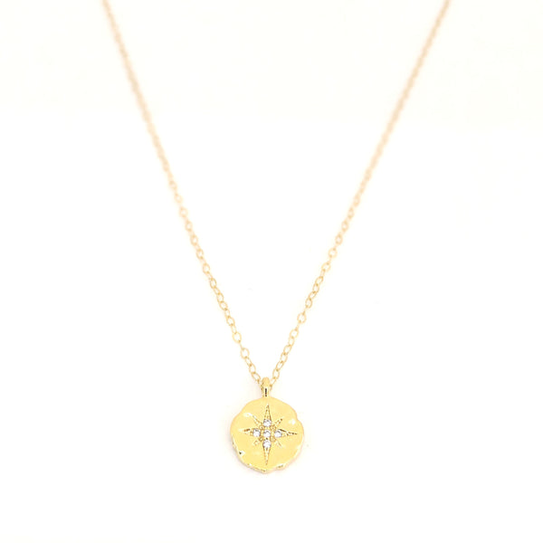 Vega Crystal Star Burst Necklace