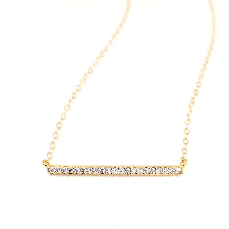 Pavé Crystal Bar Necklace